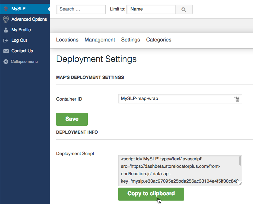 Get your embed code snippet from MySLP.