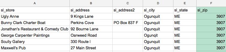 Invalid Postal Codes
